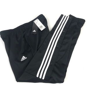 Adidas Snap Button Joggers Pants Mens M Soccer NEW